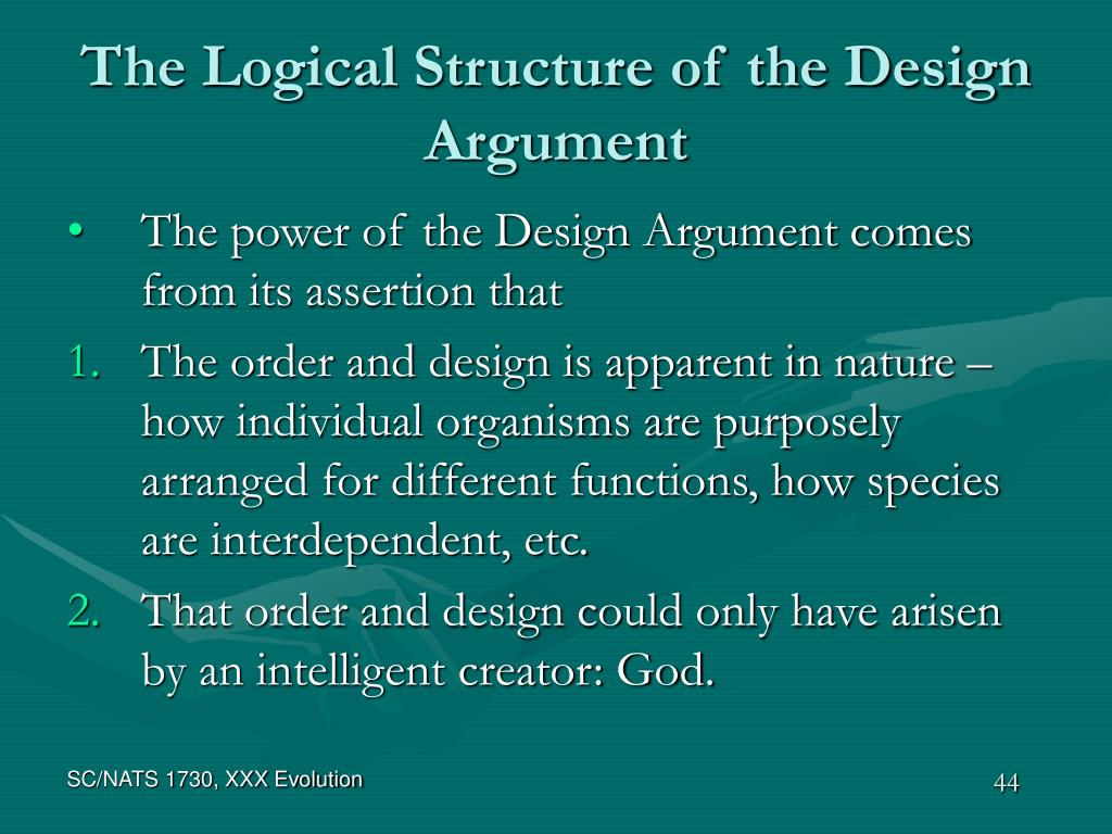 The Logical Structure of the Design Argument