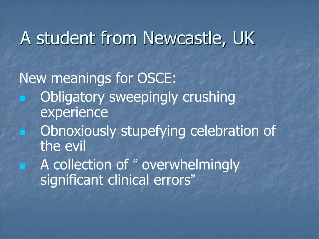 A student from Newcastle, UK