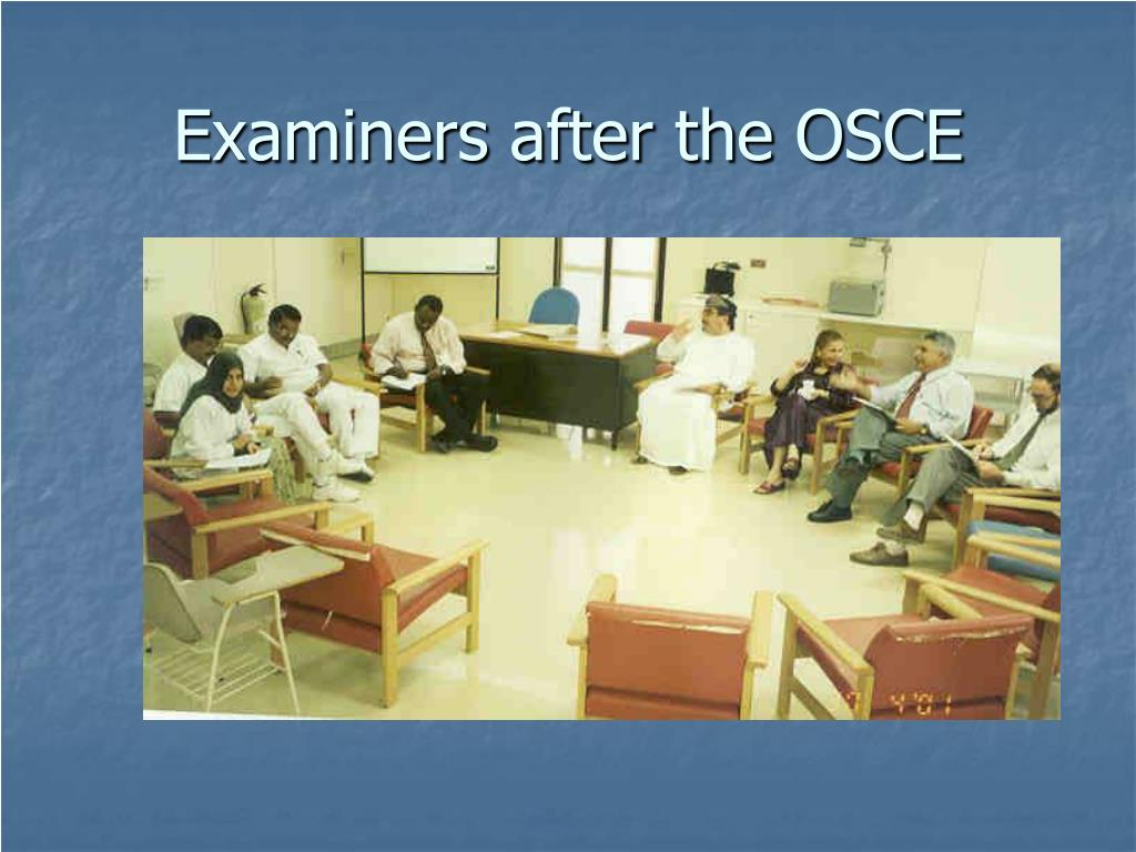 Examiners after the OSCE