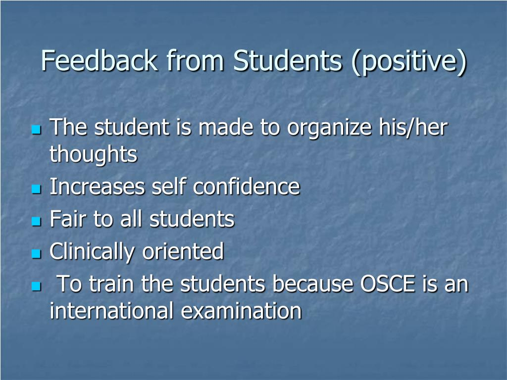Feedback from Students (positive)