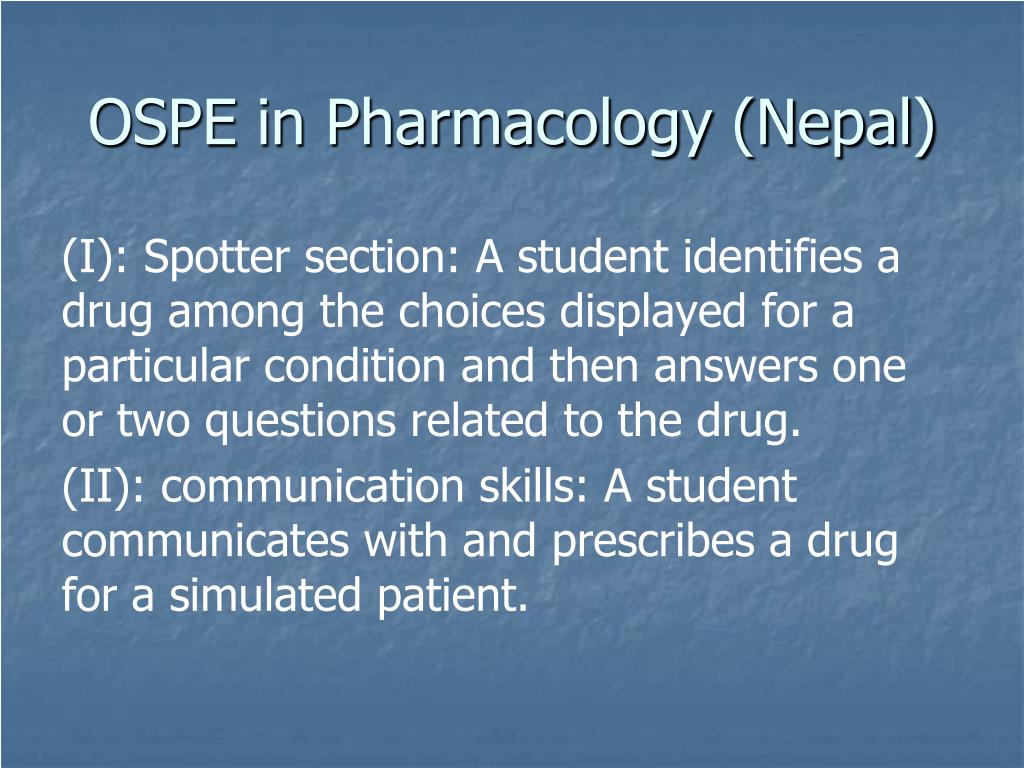 OSPE in Pharmacology (Nepal)