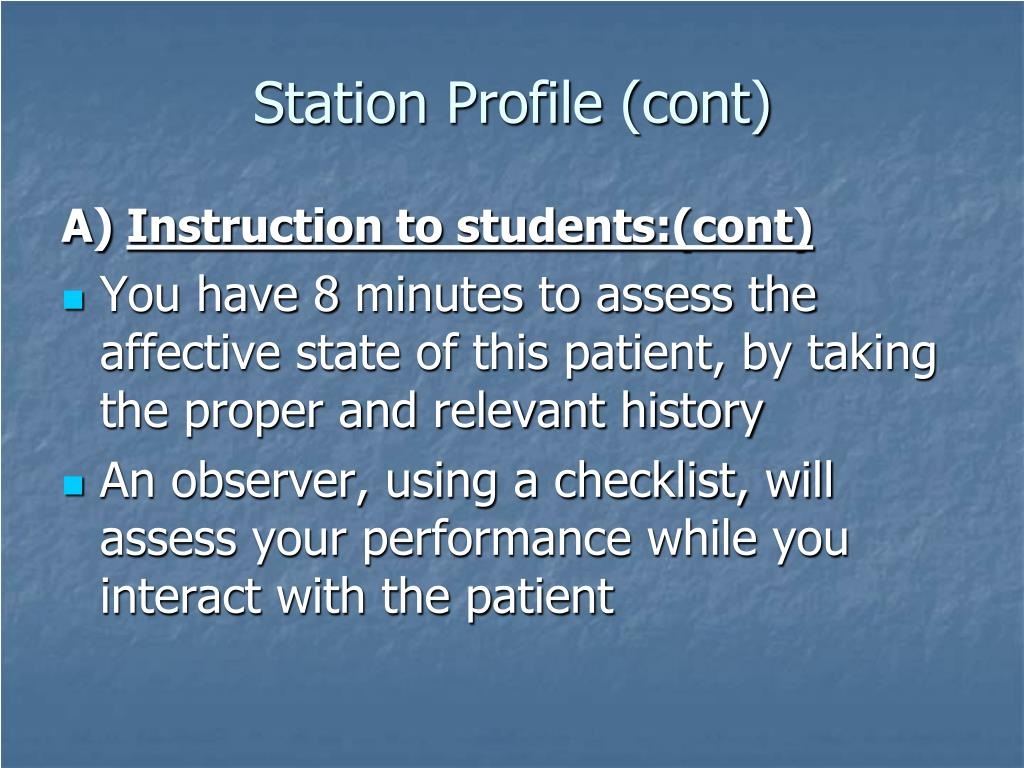 Station Profile (cont)