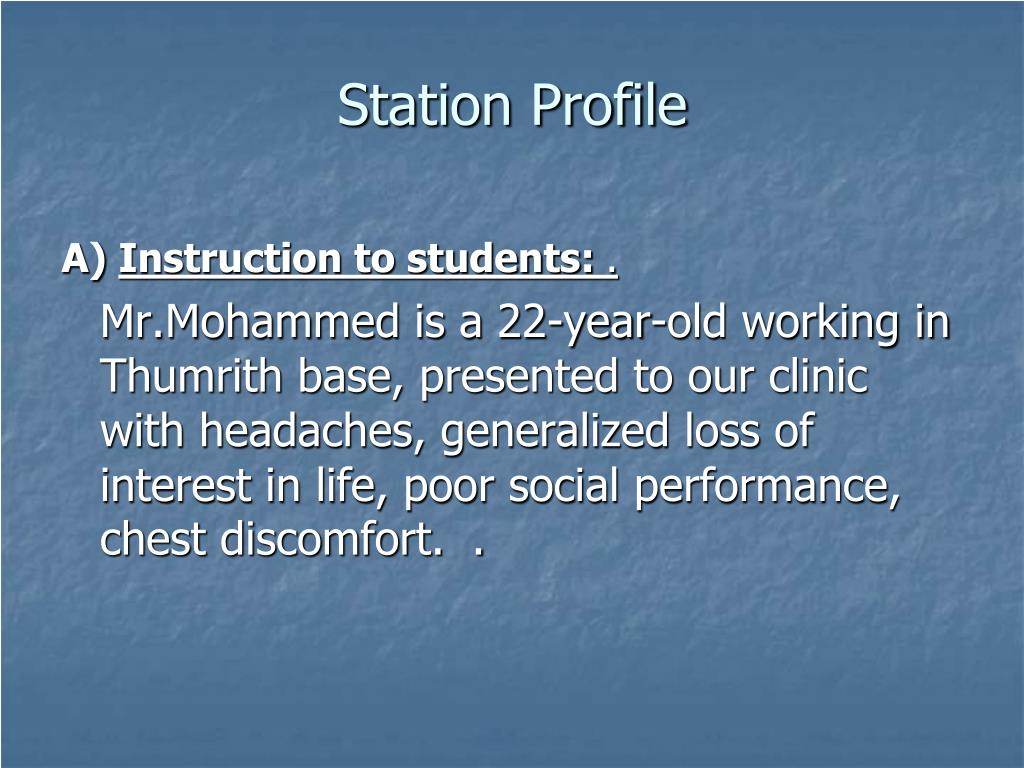 Station Profile