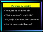 purposes for reading