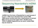 sequencing neanderthal s mtdna