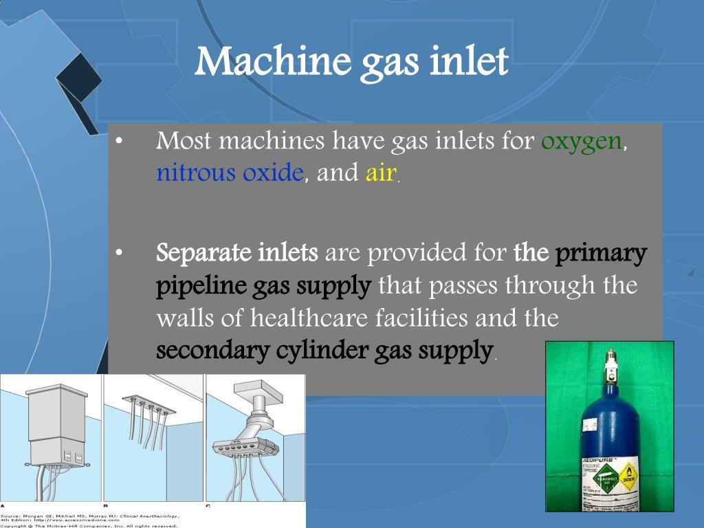 Machine gas inlet