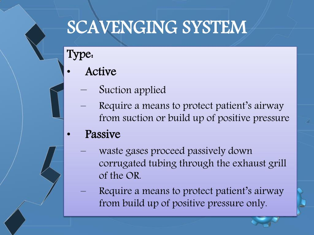 SCAVENGING SYSTEM