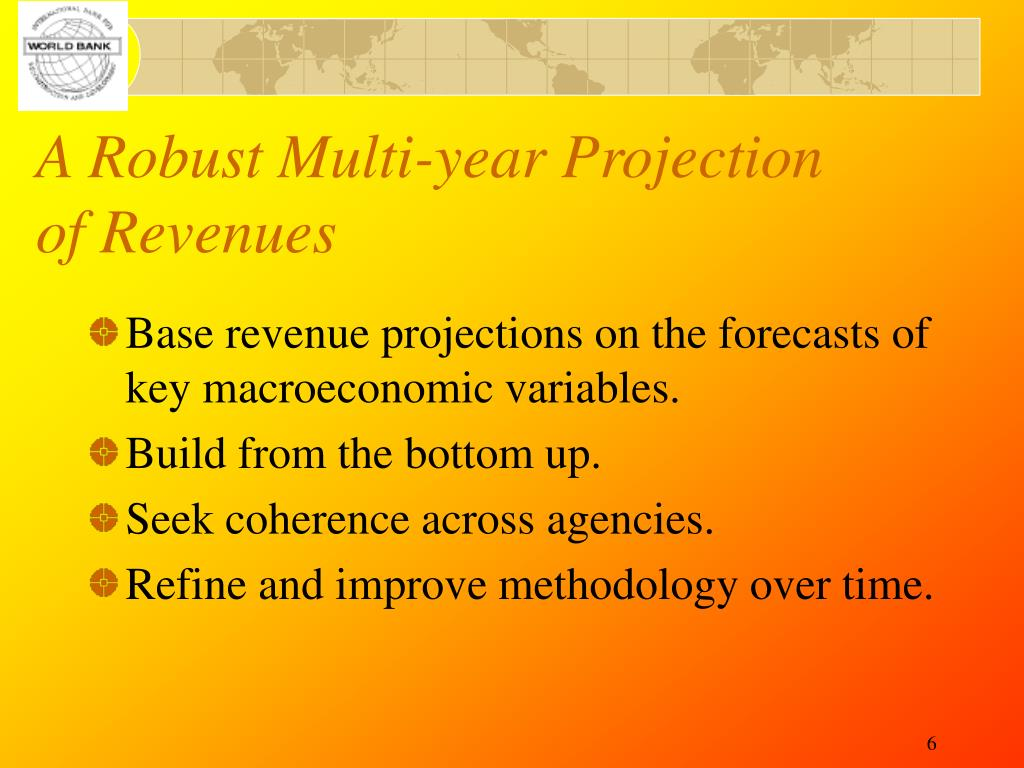 A Robust Multi-year Projection of Revenues