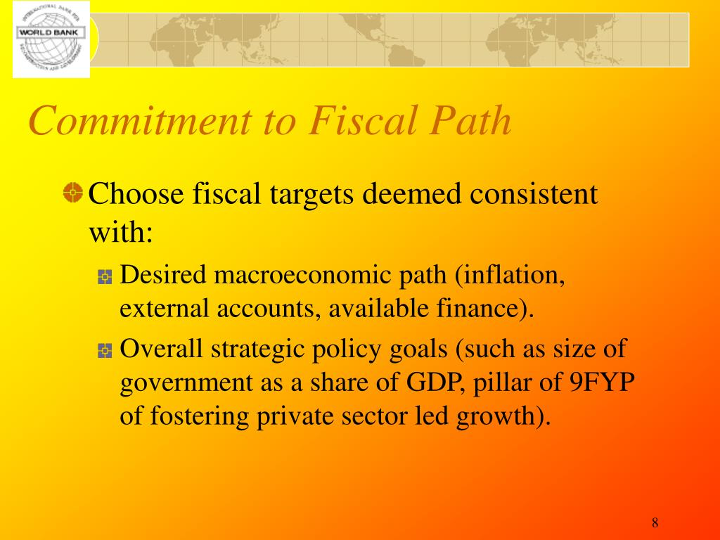 Commitment to Fiscal Path