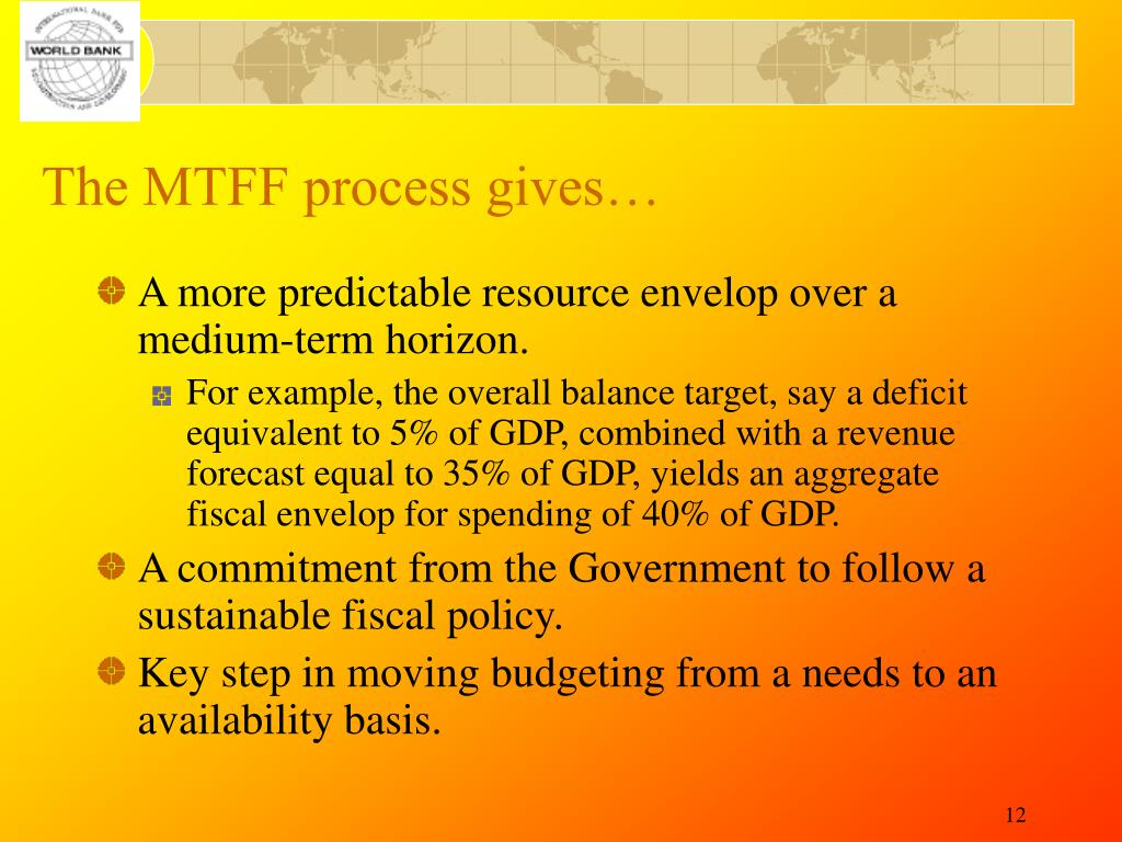 The MTFF process gives…