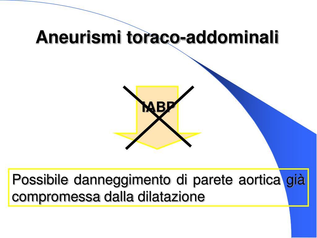 Aneurismi toraco-addominali