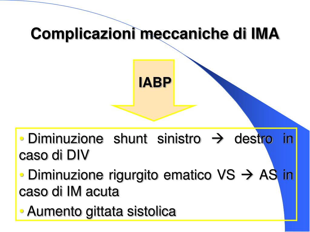 Complicazioni meccaniche di IMA
