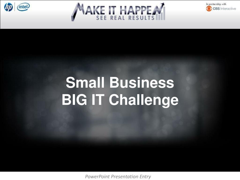 small business big it challenge