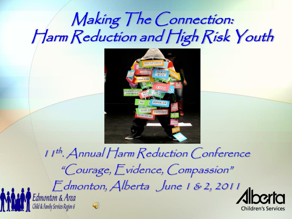 making the connection harm reduction and high risk youth