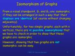 isomorphism of graphs32