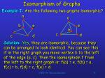 isomorphism of graphs34