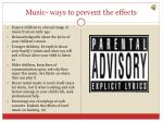 music ways to prevent the effects