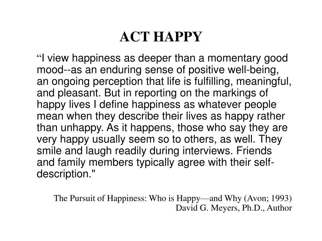 ACT HAPPY