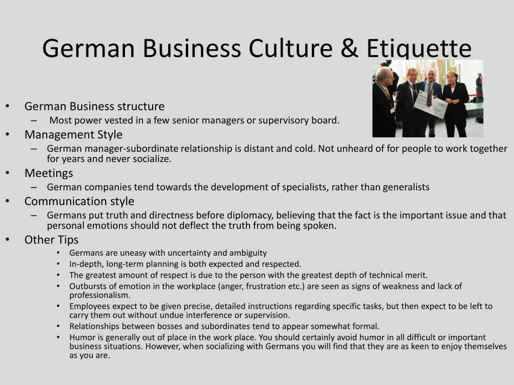 German Business Culture & Etiquette