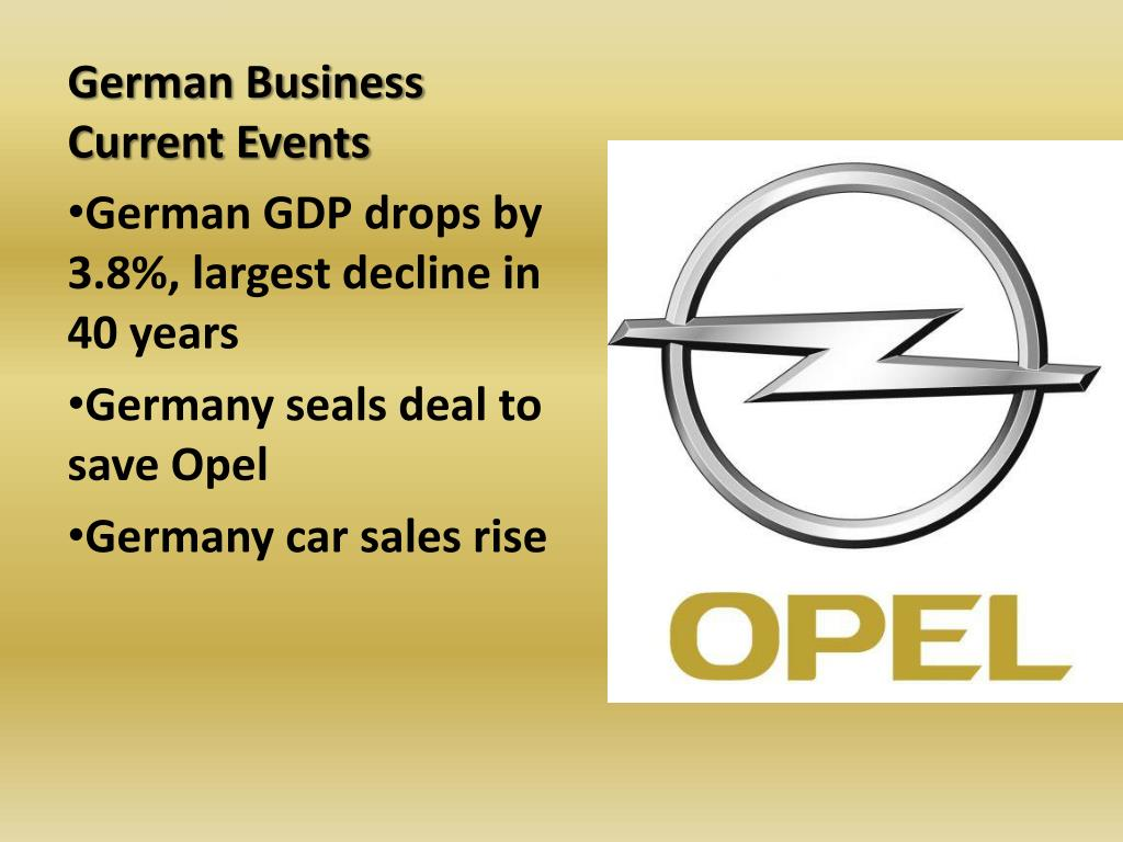 German Business Current Events
