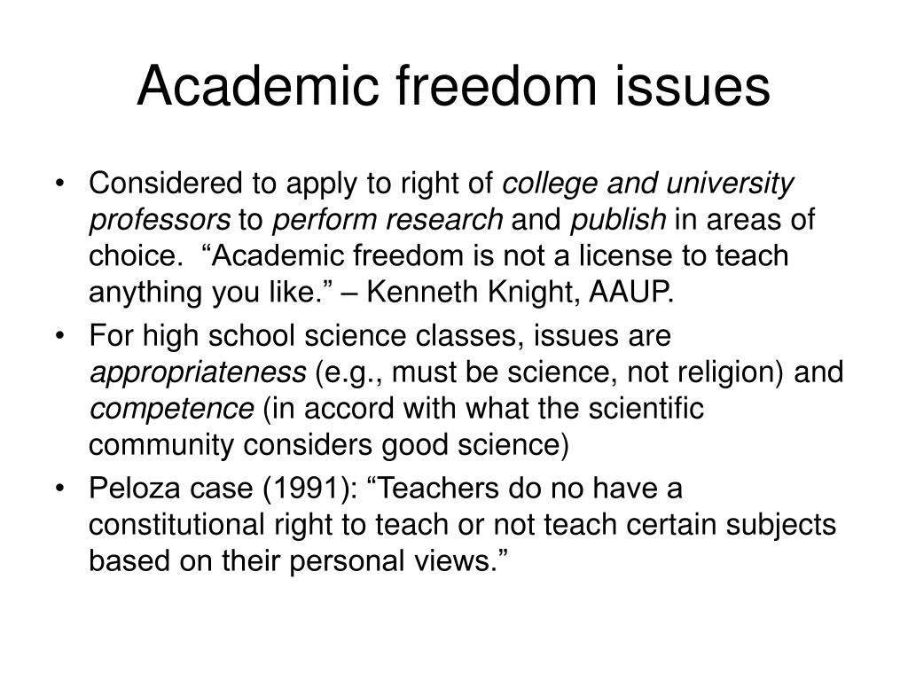 Academic freedom issues