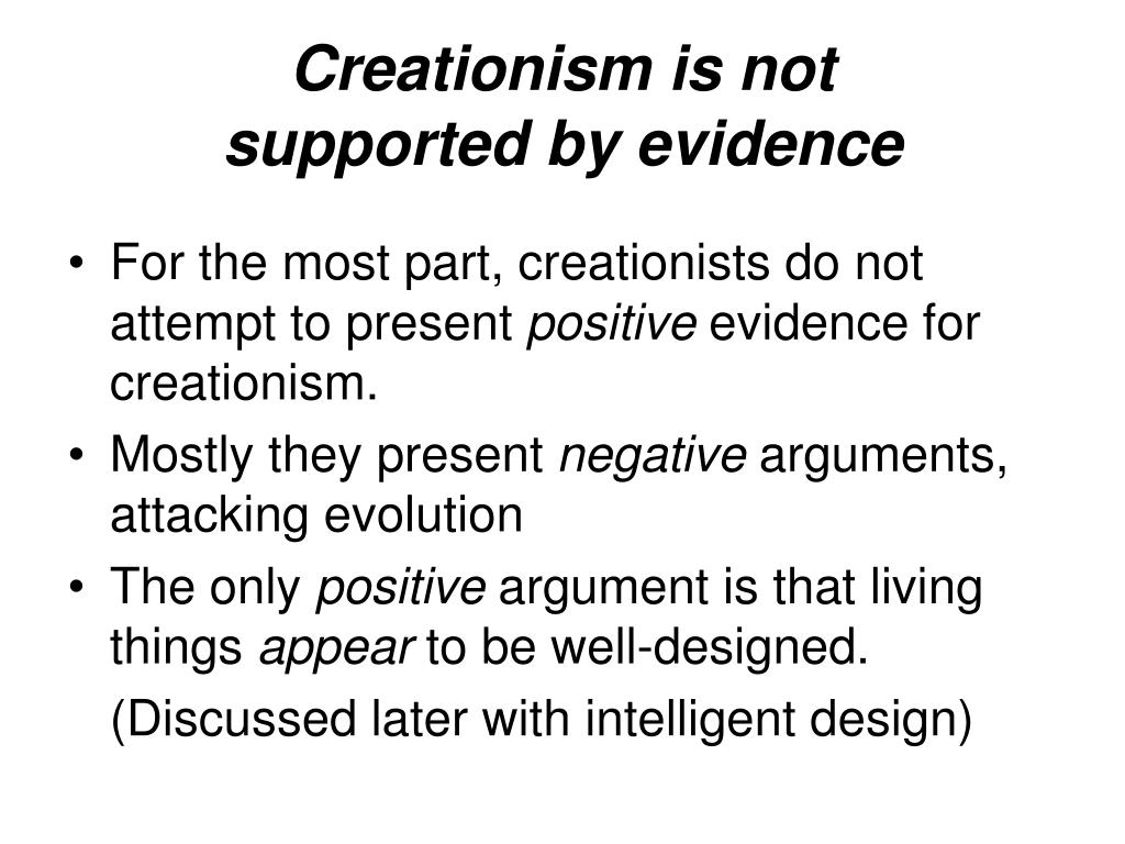 Creationism is not