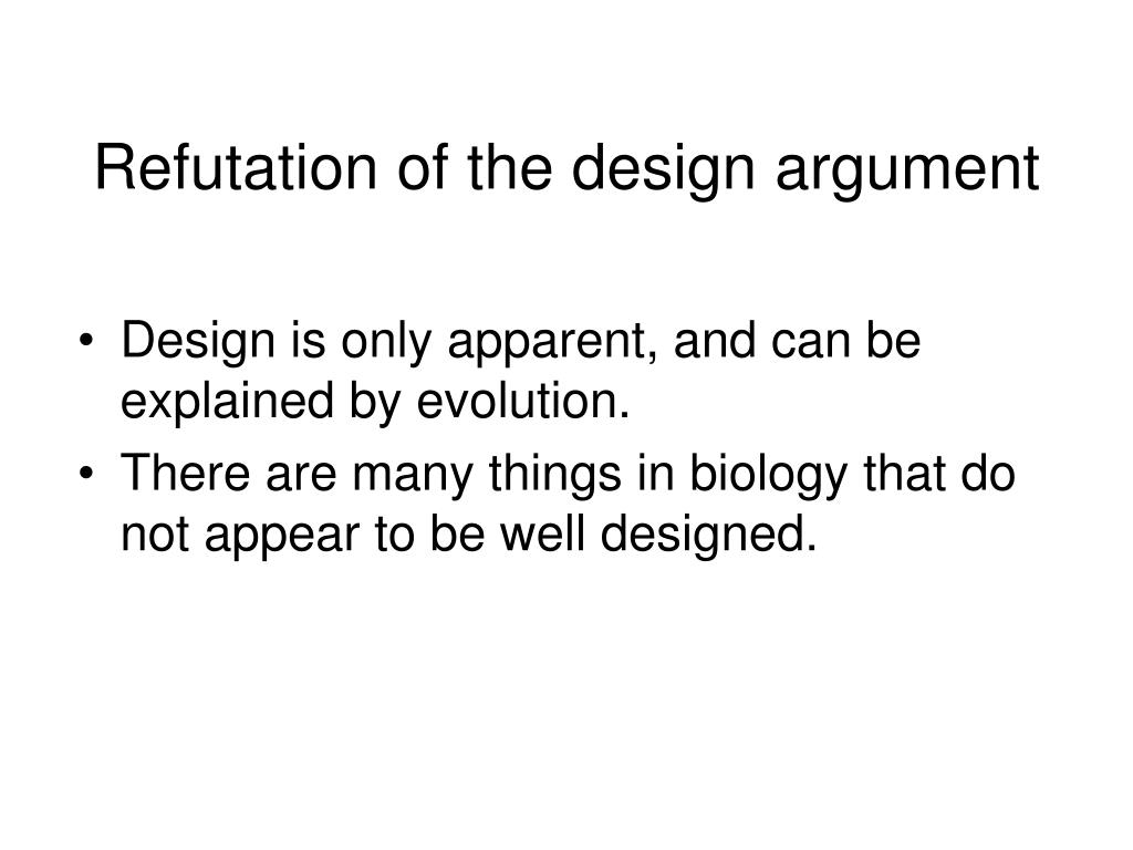 Refutation of the design argument