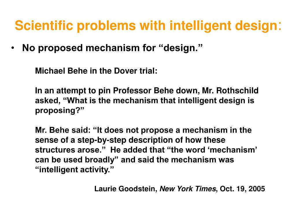 Scientific problems with intelligent design