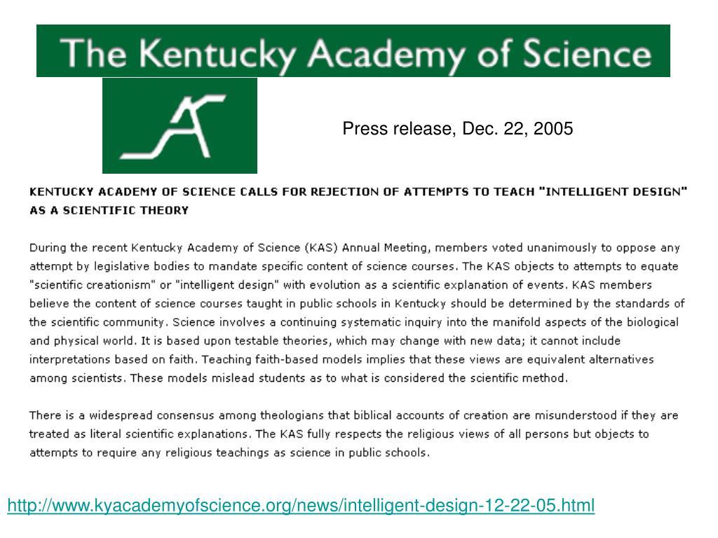 Press release, Dec. 22, 2005