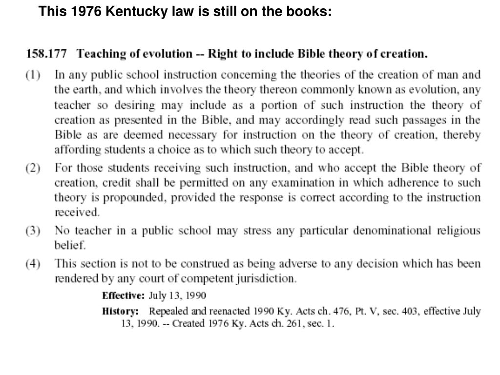 This 1976 Kentucky law is still on the books:
