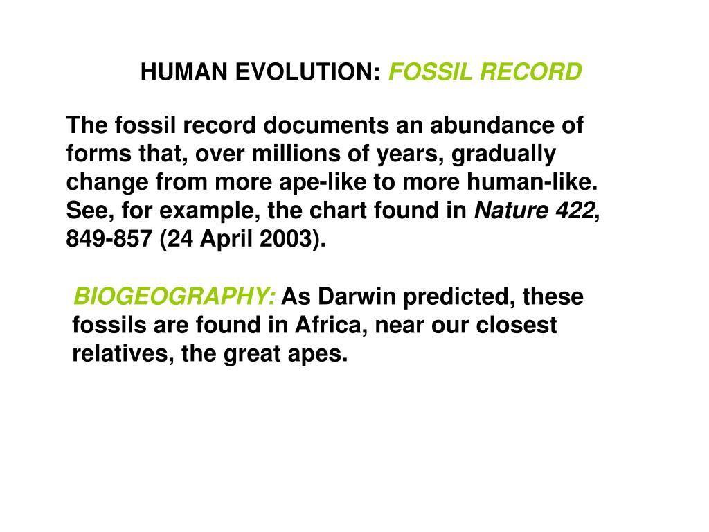 HUMAN EVOLUTION: