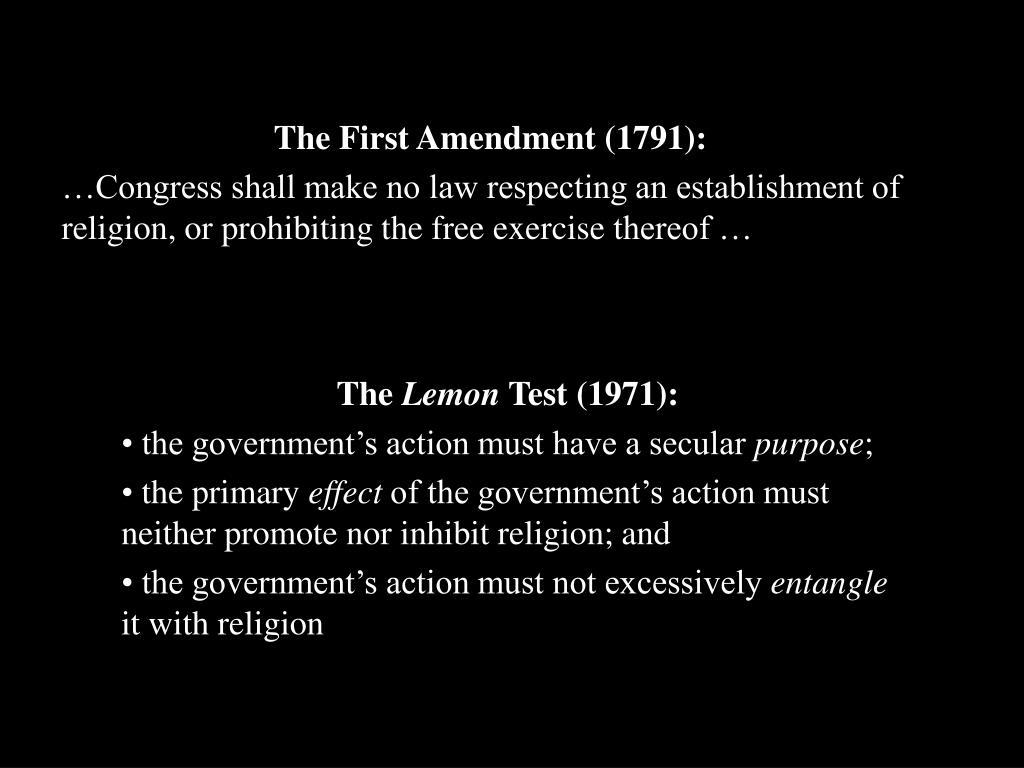 The First Amendment (1791):