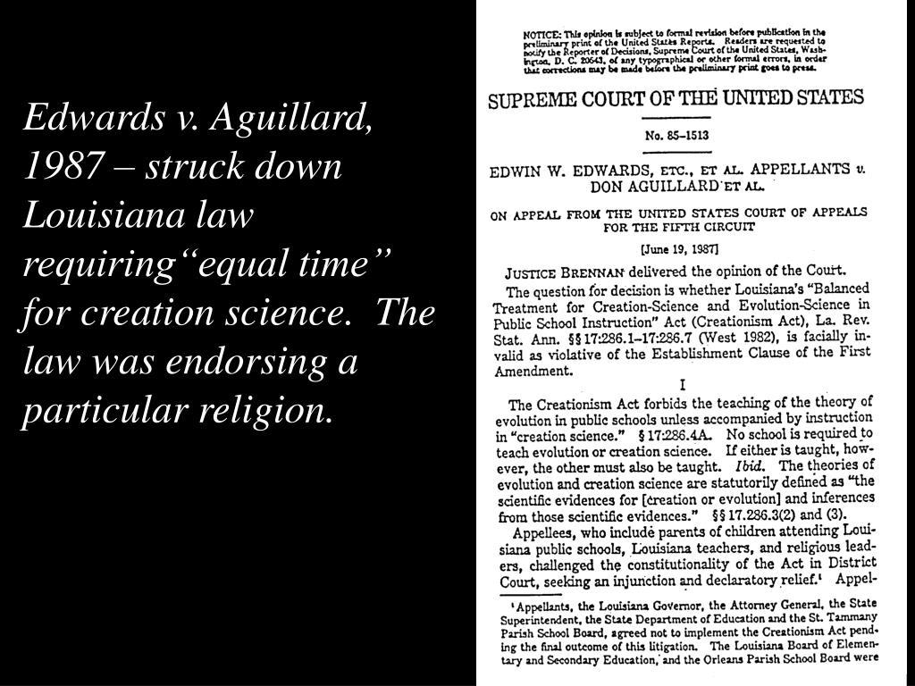 Edwards v. Aguillard,