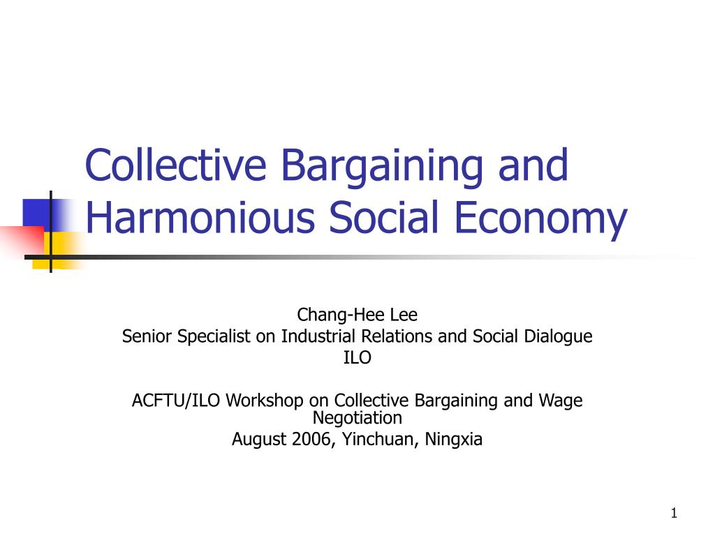 labor markets and collective bargaining essay The legal framework for collective bargaining in studies of labor markets in developing secti ons of the essay about the operation of labor unions in a n.