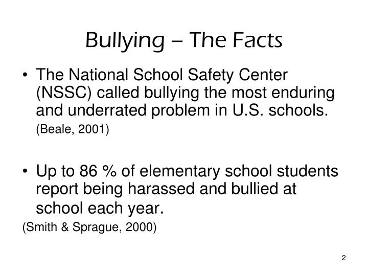 Bullying the facts