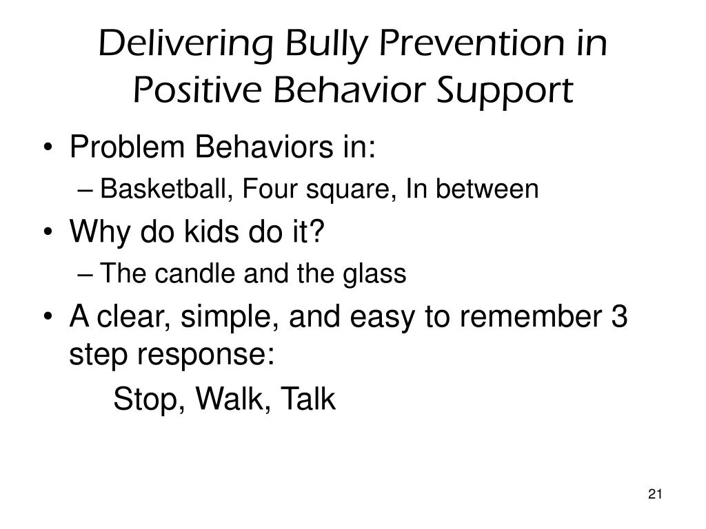 Delivering Bully Prevention in Positive Behavior Support