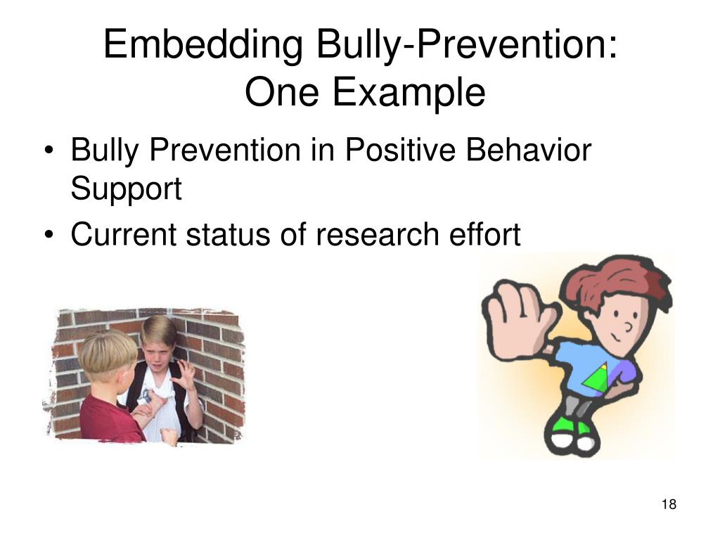 Embedding Bully-Prevention: