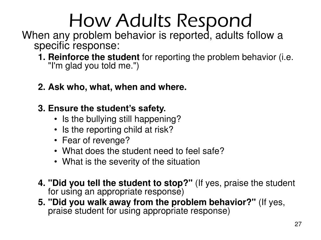 How Adults Respond