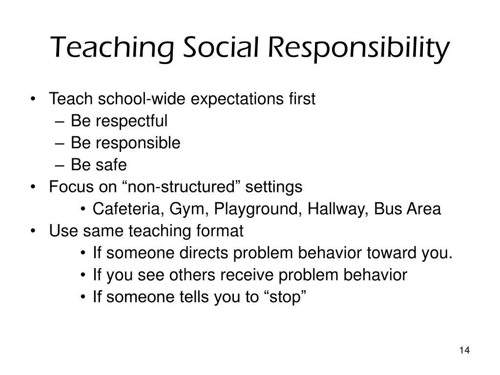 Teaching Social Responsibility