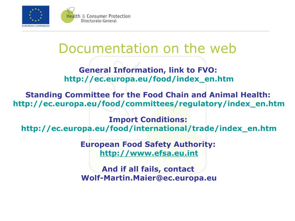 Documentation on the web
