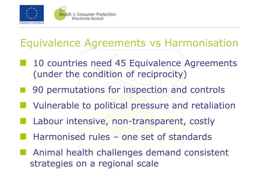 Equivalence Agreements vs Harmonisation