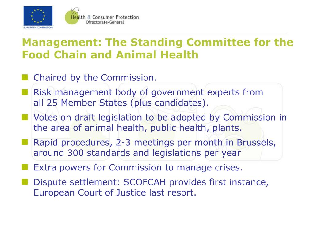 Management: The Standing Committee for the