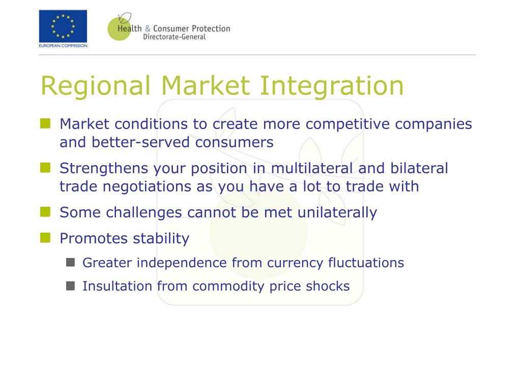 Regional Market Integration
