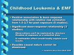 childhood leukemia emf