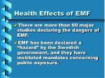 health effects of emf