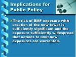 implications for public policy