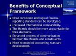 benefits of conceptual framework