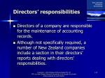 directors responsibilities