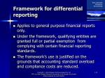 framework for differential reporting