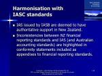 harmonisation with iasc standards